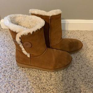 SO Sigma Chestnut Faux-Fur boots